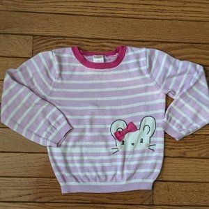 Gymboree Mouse Bow Stripe Sweater